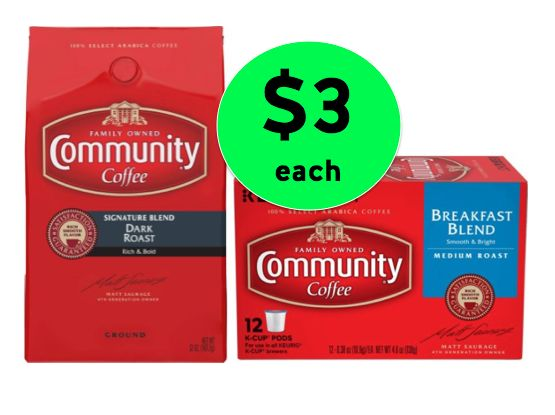 COFFEE ALERT! Get TWO (2!) Community Coffee Bags or K-Cups ONLY $3 Each at Winn Dixie! ~ Right Now!