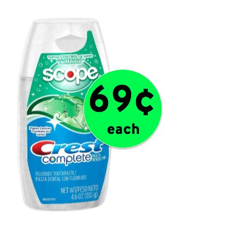 Nab 69¢ Crest Complete Toothpaste at Target! ~ Going On Now!