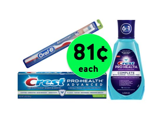 Pick Up THREE (3!) Crest Oral Care Products Only 81¢ Each at Walgreens! ~ Starts Sunday!