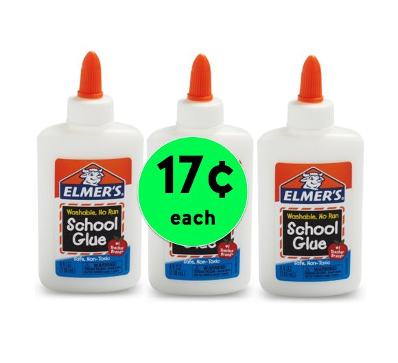School is Coming! STOCK UP on Elmer's School Glue Only 17¢ Each Right Now at Walmart!