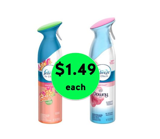 Pick Up TWO (2!) Febreze Air Effects Only $1.49 Each at Winn Dixie! ~ Right Now!