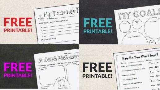 FREE Back To School Classroom Printables!