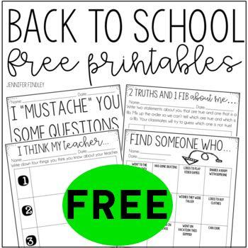 FREE Back to School Printables!