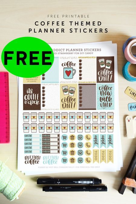 FREE Coffee Themed Planner Printable Stickers!