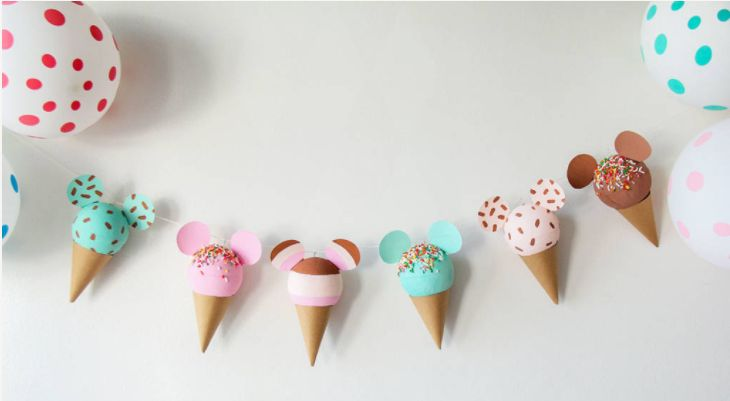 FREE Mickey Mouse Ice Cream Printable Garland!