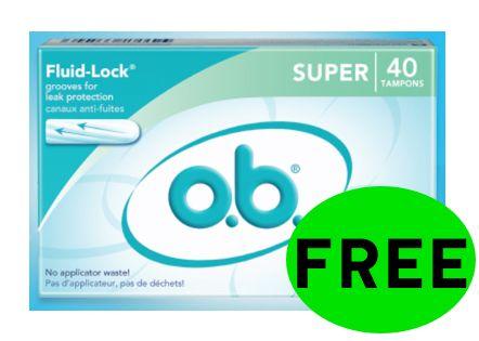 FREE o.b. Original Feminine Product!