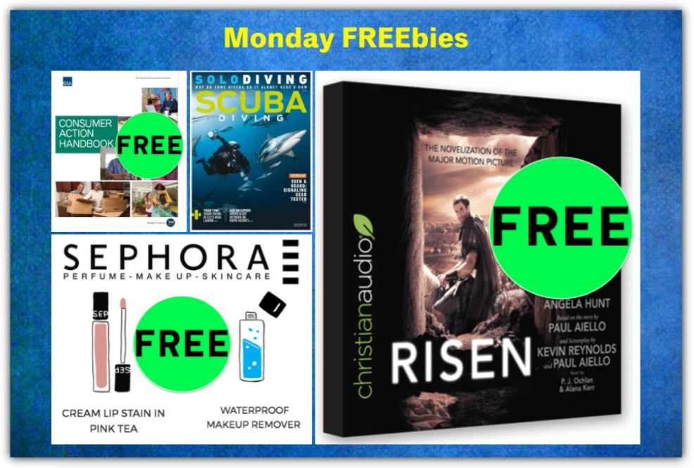 FOUR FREEbies: Annual Subscription to Scuba Diving Magazine, Sephora Makeup Sample, Consumer Action Handbook and Christian Audiobook!