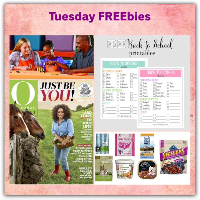 FOUR FREEbies: TWO (2!) Year Subscription to Oprah Magazine, Back to School Checklist Printable, Kids Workshop at Home Depot and Dog Treat Sample Box