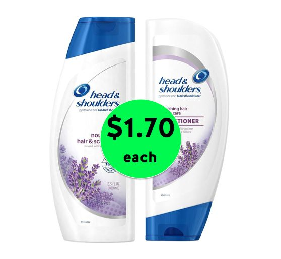 Get Head & Shoulders Shampoo and Conditioner ONLY $1.70 Each at Walgreens! ~ Right Now!