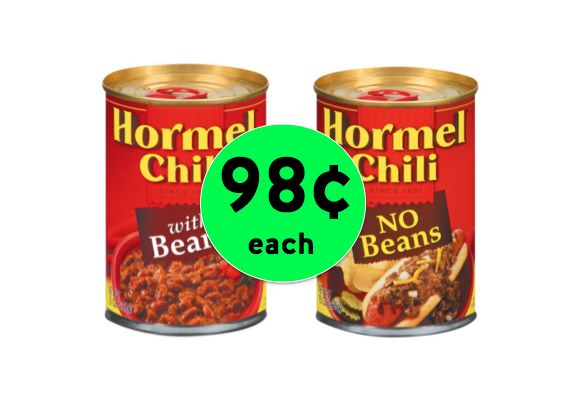 Top Your Dogs with 98¢ Hormel Chili at Winn Dixie! ~Right Now!