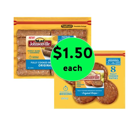 Breakfast Anytime! Get Johnsonville Breakfast Sausage Links or Patties Only $1.50 Each at Winn Dixie! ~ Going on Now!