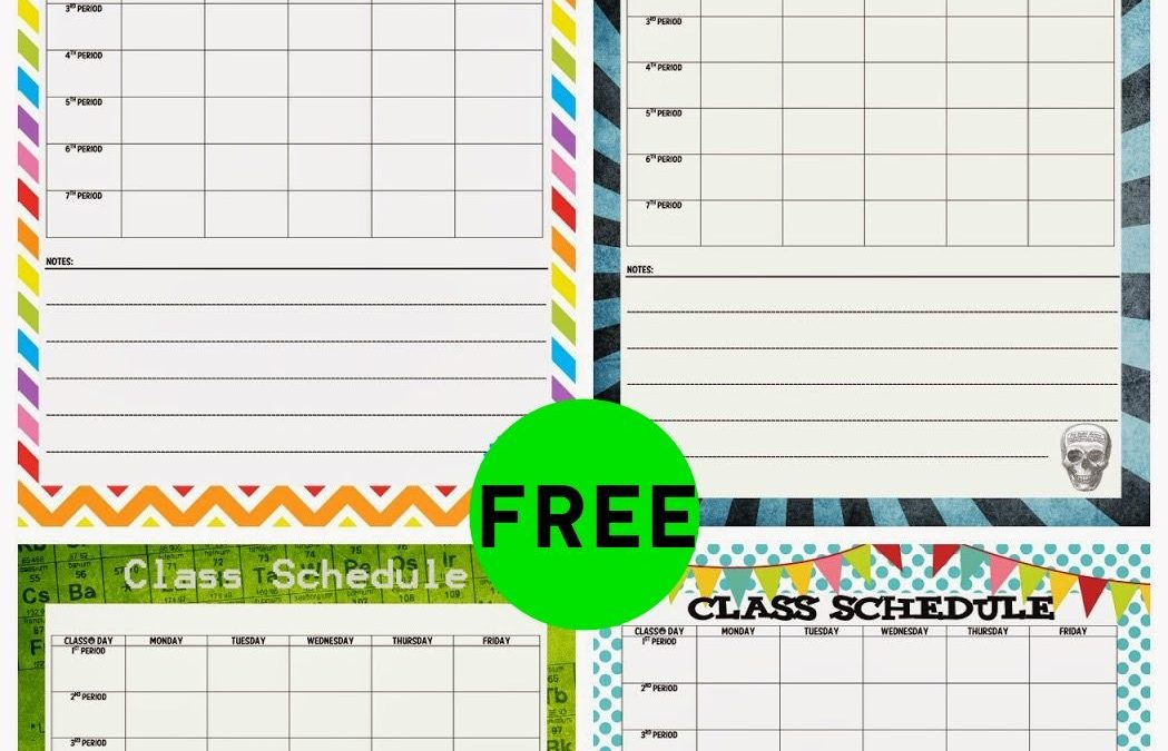 FREE Class Schedule Printable!