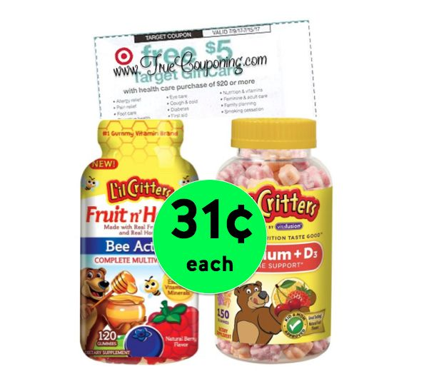 Pick Up L'il Critters Vitamins ONLY 31¢ each at Target! ~ Ends Saturday!