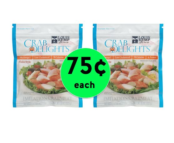 Love Seafood Salad? Louis Kemp Delights ONLY 75¢ Each at Winn Dixie! ~ Starts Tomorrow!
