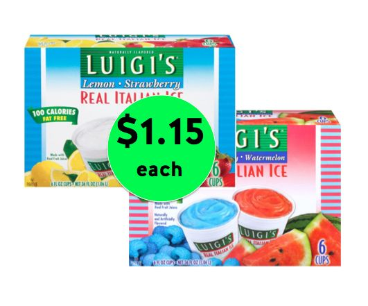 Cool Off with Luigi's Italian Ice Only $1.15 Each at Winn Dixie! ~ Right Now!