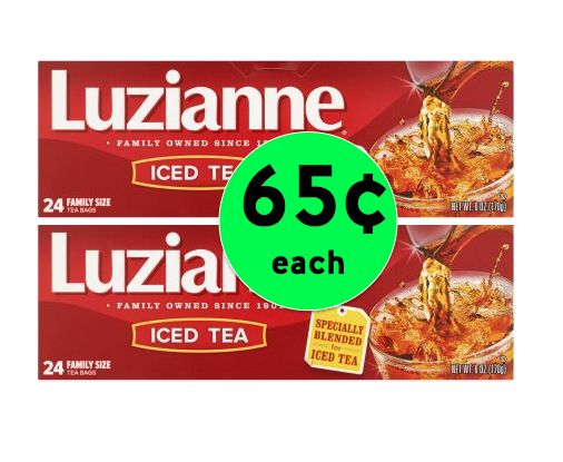 Stock Up on Luzianne Family Size Tea Bags Only 65¢ Each at Winn Dixie! ~ Going on Now!