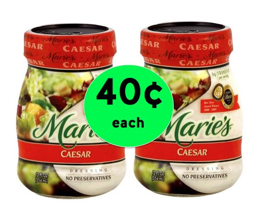 Pick Up TWO (2!) Marie's Dressings ONLY 40¢ Each at Winn Dixie! ~ Starts Tomorrow!