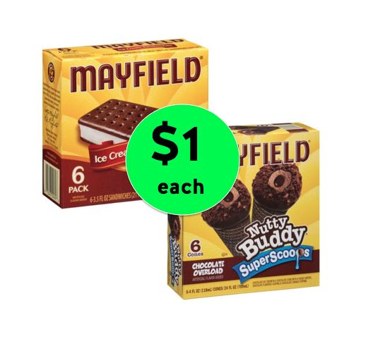 Yay for Ice Cream! Get TWO (2!) Mayfield Ice Cream Select Novelties Only $1 Each at Winn Dixie! ~ Right Now!
