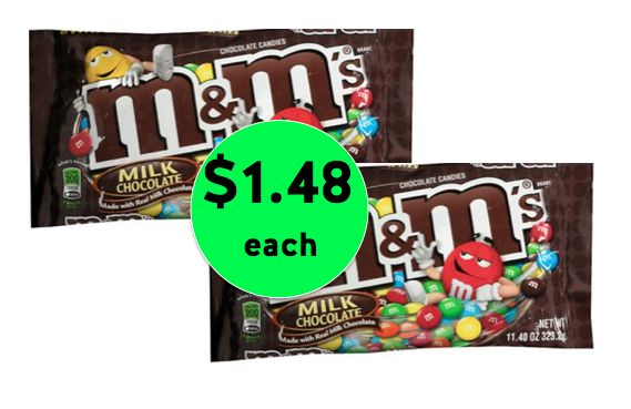 Pick Up M&Ms Bagged Candy Only $1.48 Each at Walgreens! ~ Ends Saturday!
