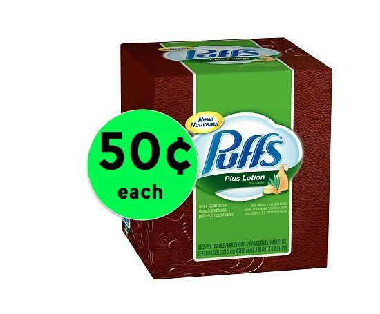 Summer Allergies? Pick Up Puffs Facial Tissue Only 50¢ Each at Winn Dixie! ~Starts Wednesday!