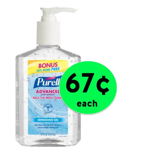 Be Ready for All the New School Germs! Pick Up Purell Hand Sanitizer For Only 67¢ Each at Walmart! ~ NOW!