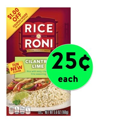 Pick Up Rice A Roni Cilantro Lime Only 25¢ Each at Winn Dixie! ~ Right Now!