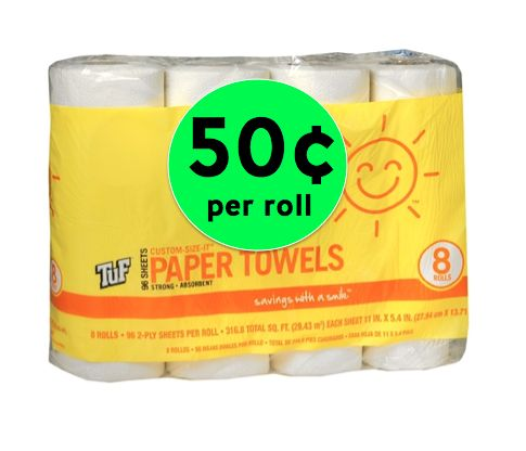 Smile & Save Paper Towels Only 50¢ Per Roll at Walgreens {NO Coupons Needed}! ~ Right Now!