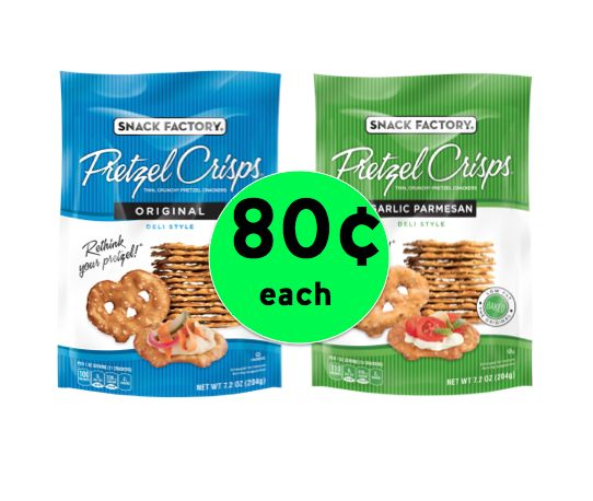 Snack Time! Pick Up Snack Factory Pretzel Crisps Only 80¢ Each at Winn Dixie! ~Right Now!