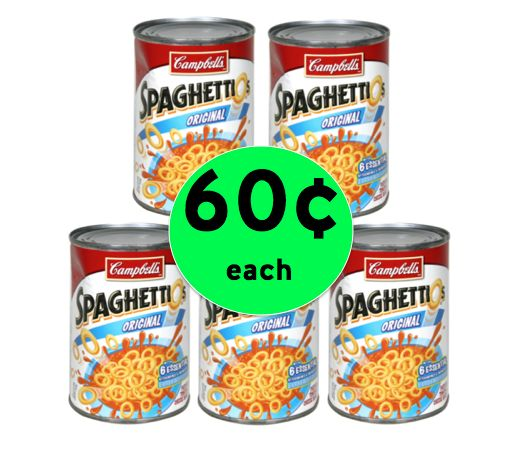 Get FIVE (5!) Campbell's SpaghettiOs ONLY 60¢ Each at Winn Dixie! ~ Right Now!