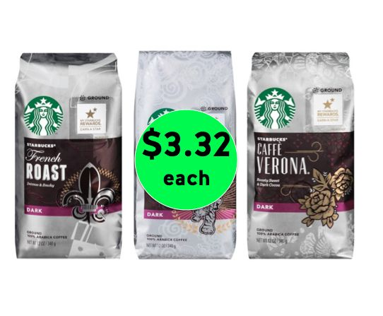Pick Up Starbucks Bagged Coffee ONLY $3.32 Each at Target! ~ Ends Wednesday!