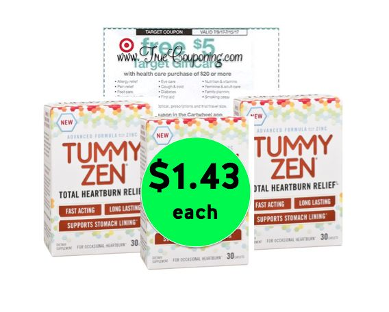 Get Total Relief with $1.43 Tummy Zen Total Heartburn Relief {Reg. $7} at Target! ~ Ends Saturday!