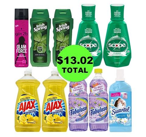 For Only $13.02 TOTAL, Get (1) Hair Care, (2) Body Washes, (2) Mouthwashes & (5) Household Products This Week at CVS!