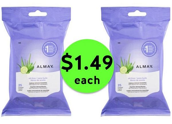 Deep Clean with $1.49 Almay Makeup Removing Towelettes at CVS! ~ Going On Now!