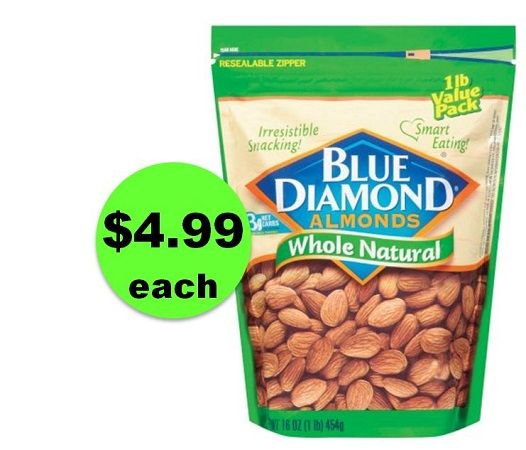Nutty Deal! Pick Up 1 Pound Bags of Blue Diamond Almonds ONLY $4.99 Each at CVS! ~ NOW!