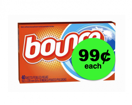 Your Laundry Will Smell Mah-velous with 99¢ Bounce Dryer Sheets at Target! ~Right Now!