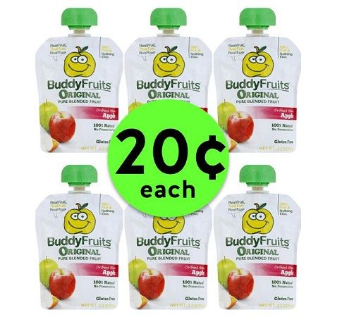 Buddy Up to Get 20¢ Buddy Fruit Pouches at Publix! ~ Going On Now!