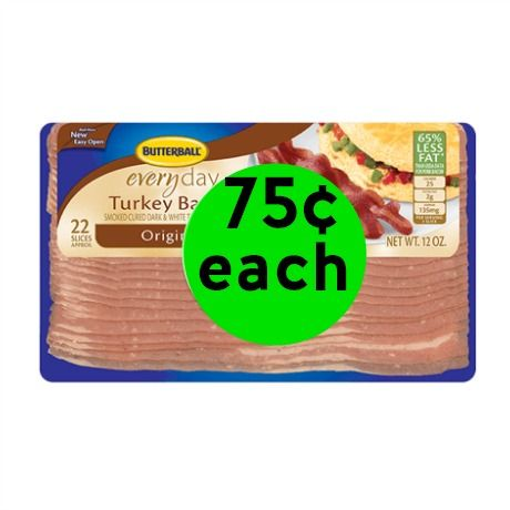 (**Updated**) Butterball Turkey Bacon Only 75¢ Each at Winn Dixie! ~ Starts Tomorrow!