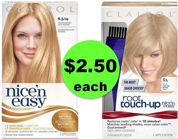 Easy Deal on Clairol Nice 'N Easy & Root Touch Up Hair Color ONLY $2.50 Each at CVS! ~ NOW!
