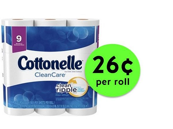 Nab Cottonelle Bath Tissue Big Roll 9 Packs ONLY 26¢ Per Roll at CVS! ~ Right Now!