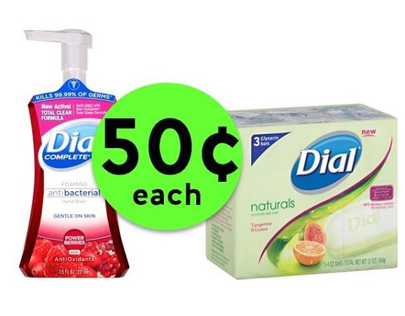 Get Clean with 50¢ Dial Hand Wash or Bar Soap at CVS! ~ Going On Now!