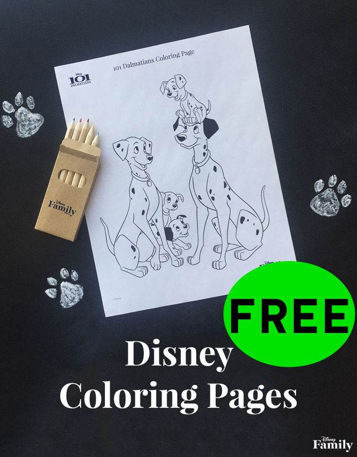 FREE Disney Coloring Pages!