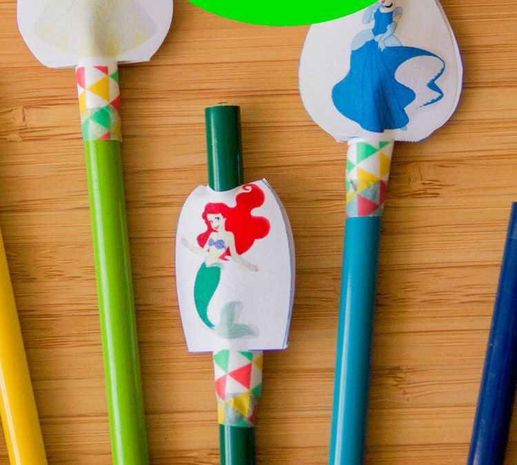 FREE Disney Princess Pencil Toppers!