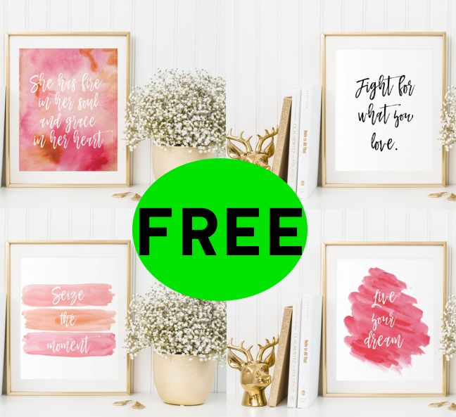 FREE Inspirational Quote Printables!