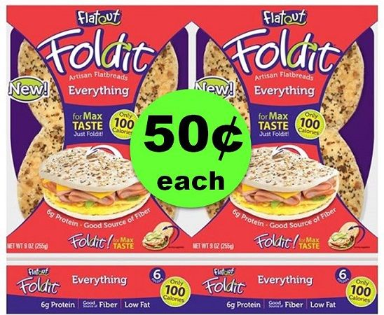 Wrap Up the Savings with 50¢ Flatout Foldit Flatbreads at Publix! ~ This Week Only!
