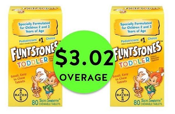 Don't Miss TWO (2!) FREE + $3.02 OVERAGE on Flintstone's Vitamins at Publix! ~ Ends Tues/Weds!