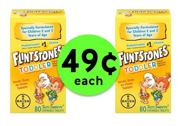 Flintstones Vitamins ?? 49¢ Each ? At Publix! (6/16-6/24)