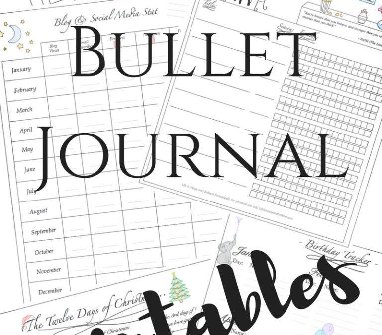 FREE Bullet Journal Printables!