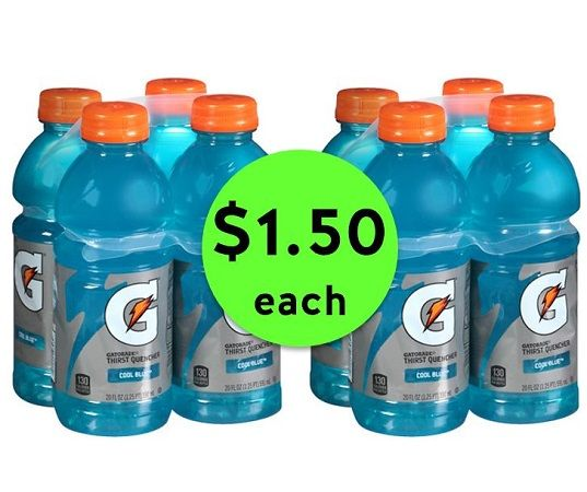 Get Refreshed with $1.50 Gatorade Sports Drink 4 Packs at CVS! ~ Going On Now!