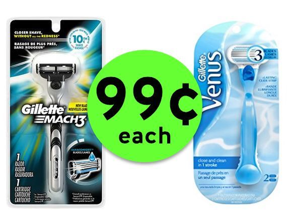 Pick Up 99¢ Gillette Mach3 Men's or Venus Women's Razors at CVS! ~ This Week Only!