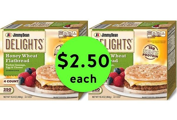 Quick Breakfast Deal with $2.50 Jimmy Dean Delights Sandwiches at Publix! ~ Ends Today!